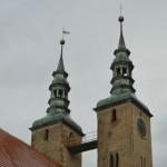 wieże dawnego kościoła ewangelickiego